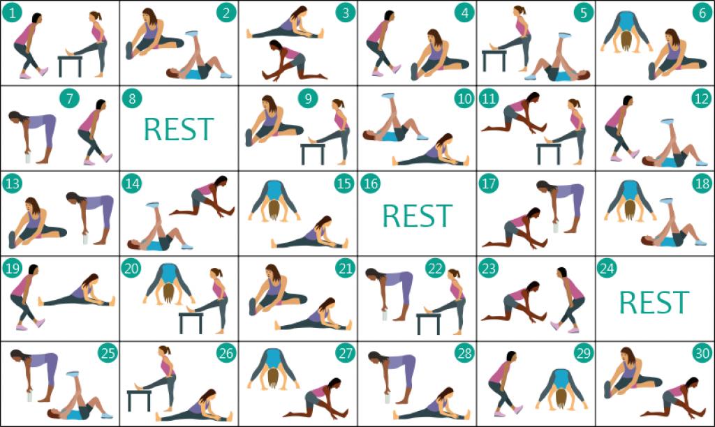 hamstring stretch 30 day challenge