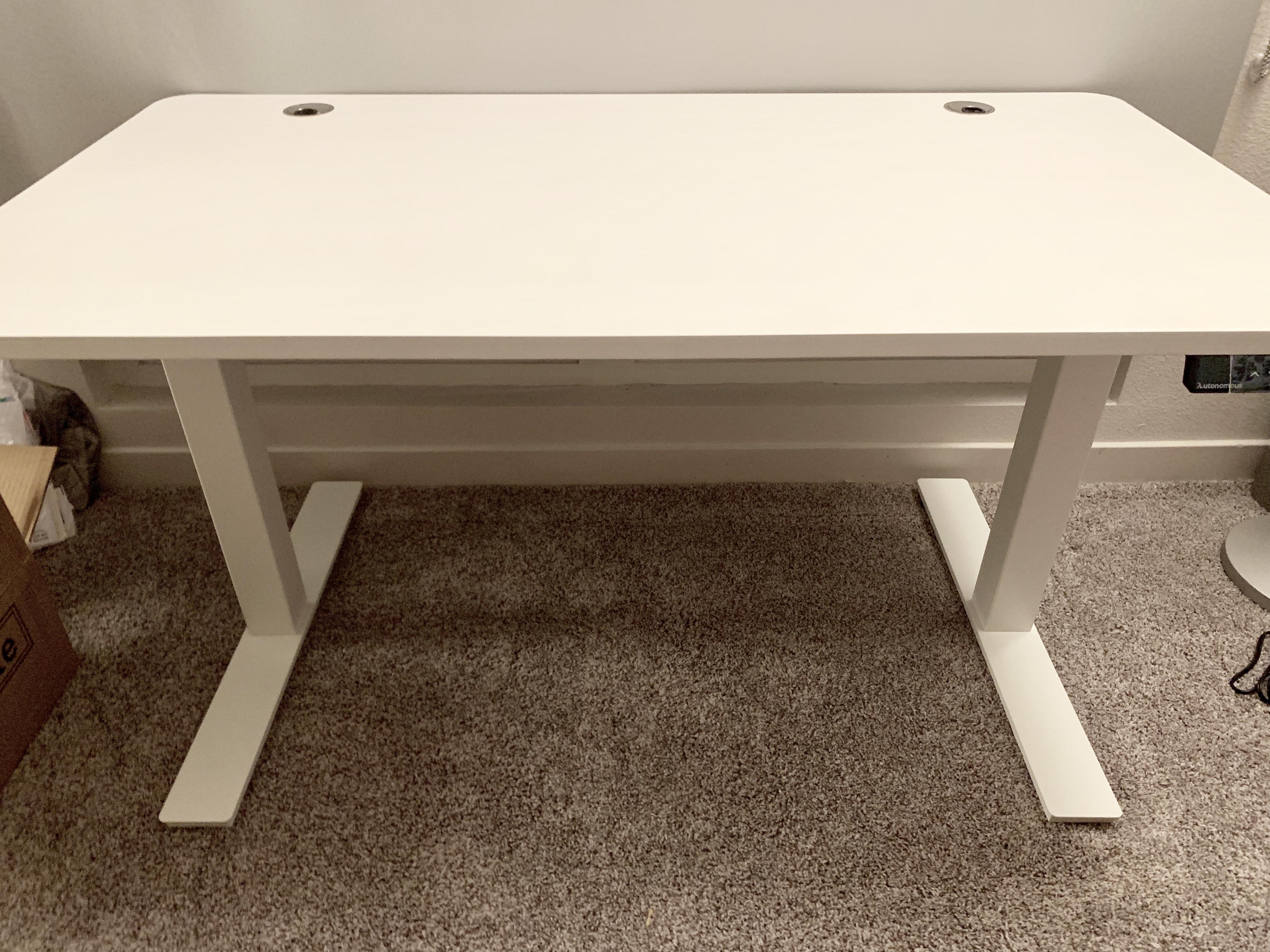 autonomous desk fully assembled