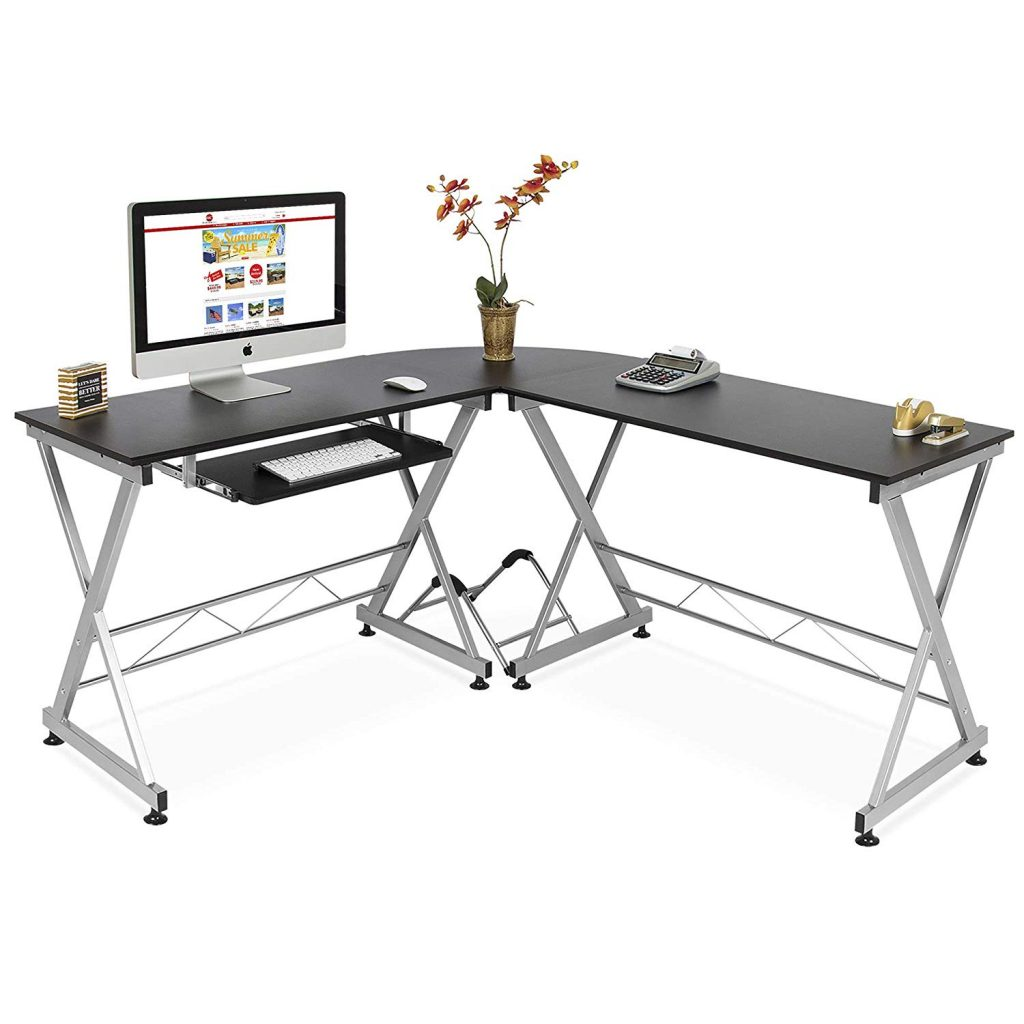 budget friendly l shape home office desk