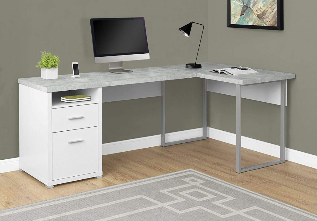 contemporary l shape home office desk