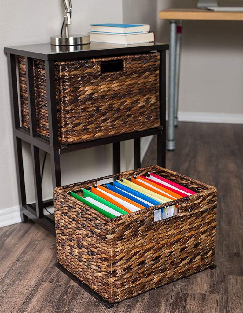birdrock two tier home decor filing cubby