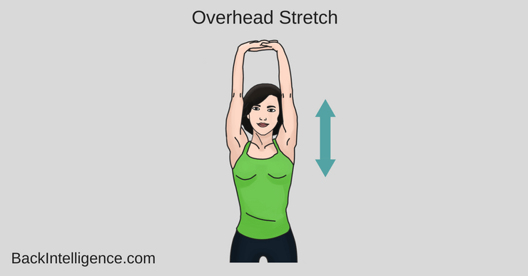 woman doing a overhead stretch
