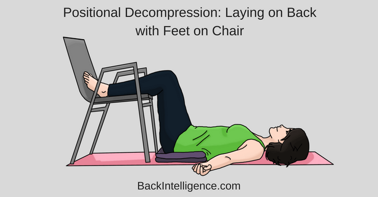 woman with feet on chair to decompress