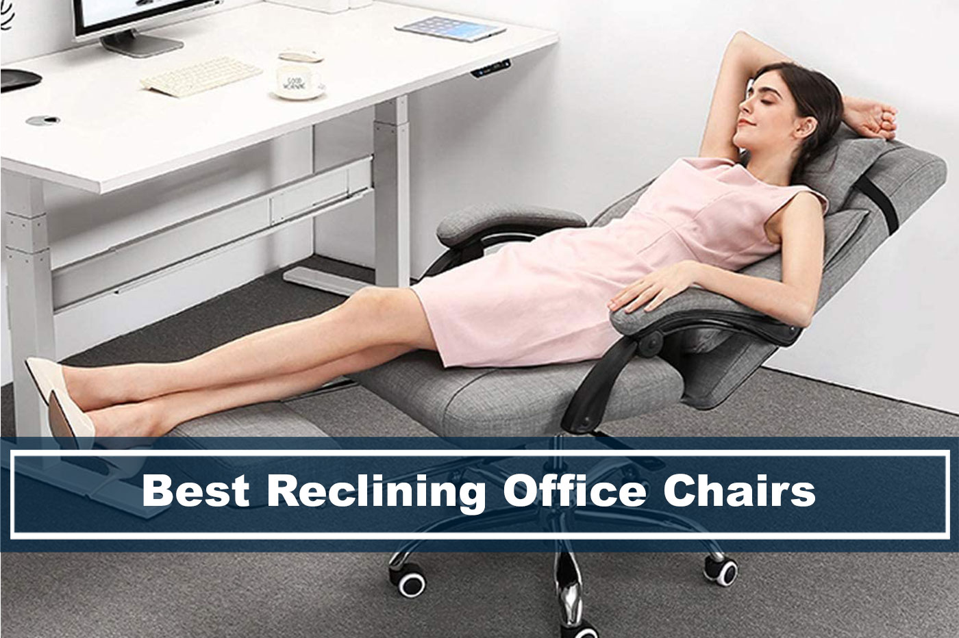 woman sleeping on the best reclining office chair