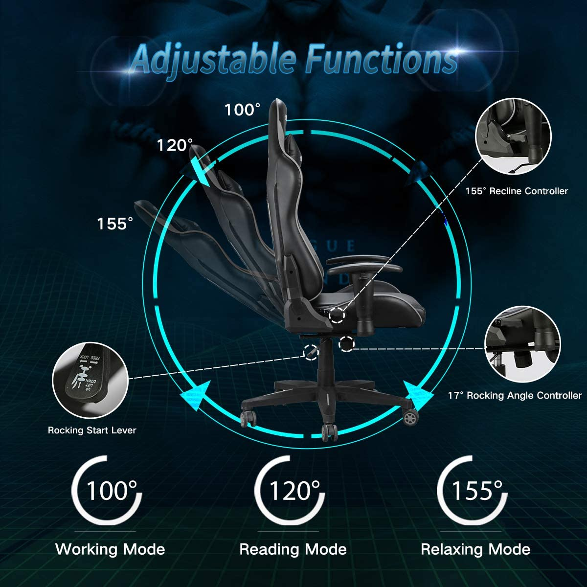 hbada product details reclining chair