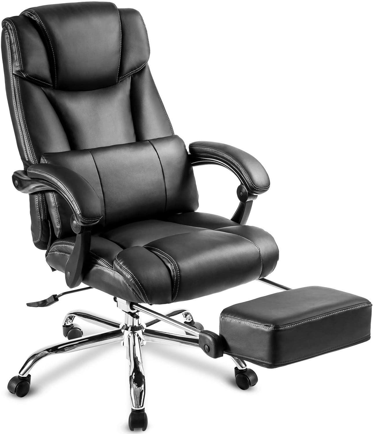 julyfox executive leather office reclining chair