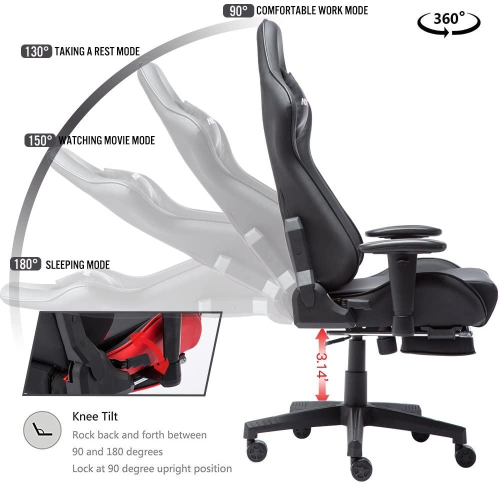 nokaxus gaming lounge reclining product details
