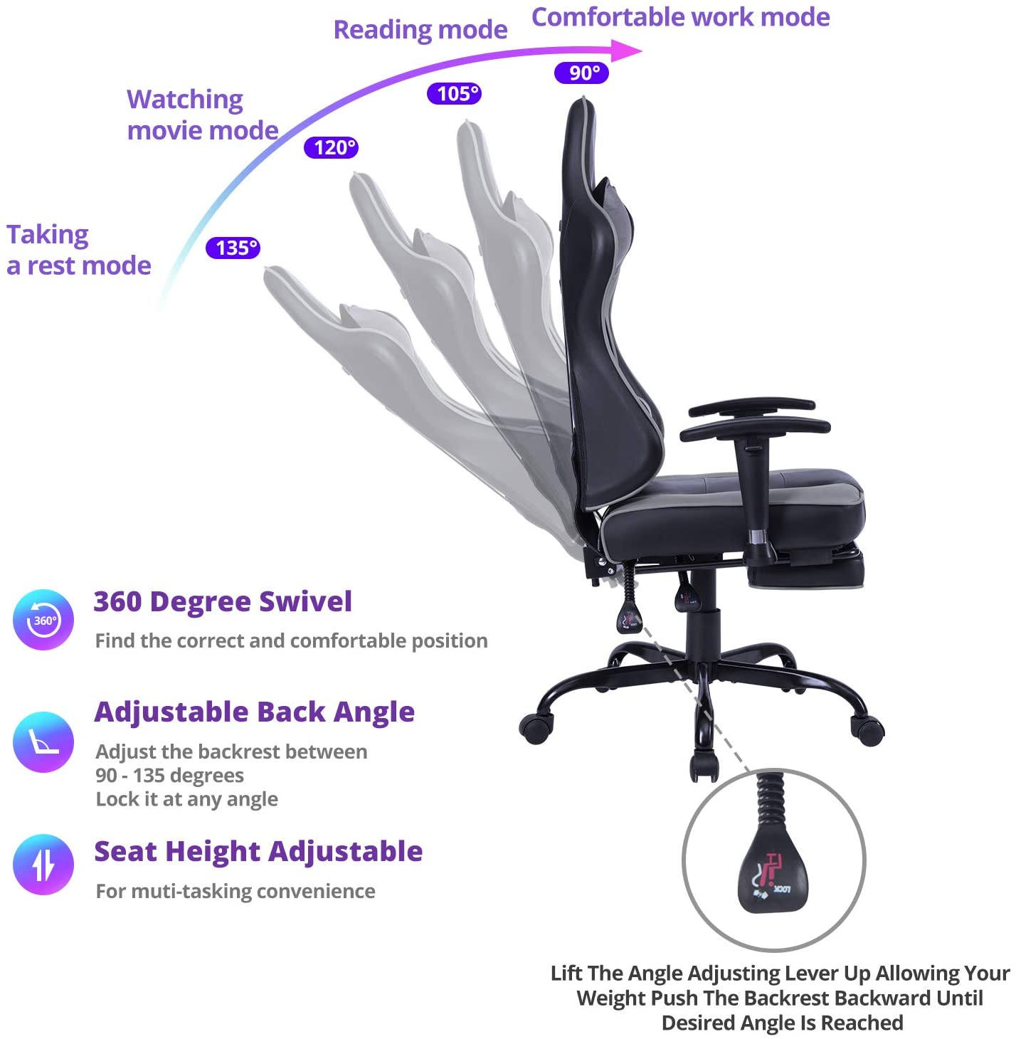 von racer reclining chair product details